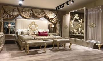Gold avangard yatak odası
