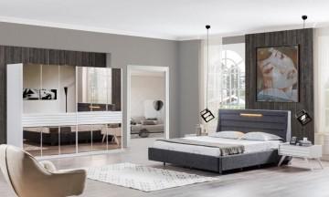 Teka beyaz yatak odası